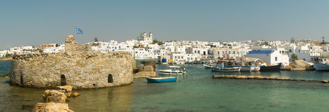 Kastelli castle of Paros island in Greece. An old Venetian fortress at Naoussa village. Stock Photo