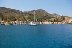 Kastellorizo-Megisti Greece. Kastellorizo has the best natural harbor in the Mediterranean Stock Images