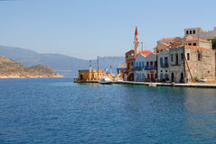 Kastellorizo-Megisti Greece. Kastellorizo is one of the Dodecanese, most eastern of all and the eastern part of Greece Stock Image