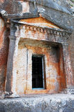 Kastellorizo-Megisti-  Greece. Ancient tomb carved into the rock Stock Images