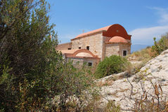 Kastellorizo-Megisti Greece. Churches with local traditional architecture Royalty Free Stock Photography