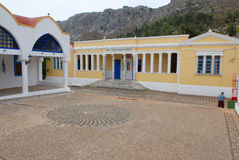 Kastellorizo-Megisti- Greece. Νeoclassical building that houses the school Royalty Free Stock Photography