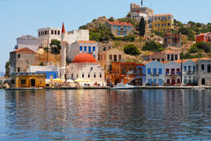 Kastellorizo-Megisti-  Greece. The harbor entrance to the old mosque Stock Images