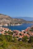 Kastellorizo-Megisti Greece. The settlement of Castelorizo and small port Stock Photo