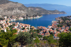 Kastellorizo-Megisti Greece. The settlement of Castelorizo and small ports Stock Photography