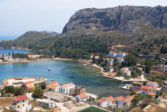 Kastellorizo-Megisti- Greece. Small harbor in Pigadia  behind the settlement Royalty Free Stock Image