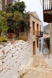 Kastellorizo-Megisti Greece. Strait the paved lane in the settlement Stock Image