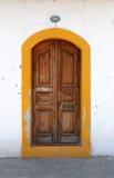 Kastellorizo-Megisti Greece. Wooden door with color kastellorizo Stock Images