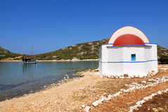 Kastellorizo-Megisti- Ro Greece. Small church on the island of RO Royalty Free Stock Images