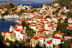 Kastellorizo stad, Kastellorizo ö, Dodecanese öar, Grekland Arkivfoto