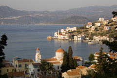 Kastellorizo at sunset - harbour panoramic view, G Royalty Free Stock Images