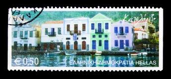 Kastelorizo, Griekse Eilanden serie, circa 2004 Stock Afbeeldingen