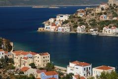 Kastellorizo-Megisti Greece. The harbor entrance of Kastelorizo Royalty Free Stock Photo