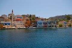 Kastellorizo-Megisti Greece. Kastellorizo is one of the Dodecanese, most eastern of all and the eastern part of Greece Stock Images