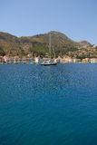 Kastellorizo-Megisti Greece. The port is ideal for yachts Royalty Free Stock Photo