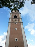Kastelruth Bell Tower in Sud Tyrol Royalty Free Stock Images