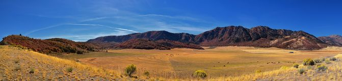 Kasten-ältere Schluchtlandschaftsansichten, populär bekannt als Sardinen-Schlucht, nördlich Brigham Citys innerhalb der Westhänge stockfotografie