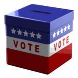 Kasten - Abstimmung auf weißem Hintergrund Lizenzfreie Stockfotos