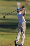 Kasten-Ball Golfspieler-Junior Practice Swings T Stockbilder