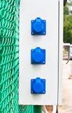 Kasten der elektrischen Verbindungsstücke Stockfotos