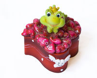 Kasten des Frosches Stockfotografie