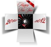 Kasten des glücklichen neuen Jahres 2012 lizenzfreie abbildung