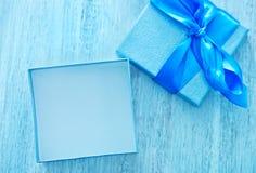 Kasten für Geschenk stockfoto