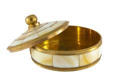 Kasten für Schmucksachen mit dem Nacre aufwändig Stockbild