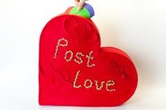 Kasten für Valentinsgrußbuchstaben Lizenzfreies Stockfoto