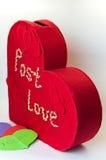 Kasten für Valentinsgrußbuchstaben Lizenzfreies Stockbild