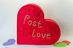 Kasten für Valentinsgrußbuchstaben Lizenzfreie Stockfotos