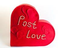 Kasten für Valentinsgrußbuchstaben Lizenzfreie Stockbilder