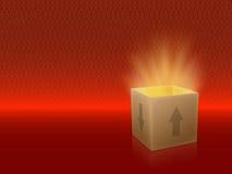 Kasten geöffnet stock abbildung