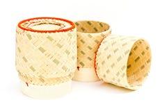 Kasten hergestellt vom Bambus. Lizenzfreie Stockfotografie