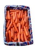 Kasten Karotten Stockfoto