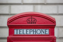 Kasten Londons Telphone Lizenzfreies Stockfoto