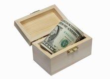 Kasten mit Dollar Lizenzfreies Stockbild