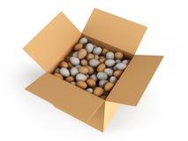 Kasten mit Eiern Lizenzfreie Stockbilder