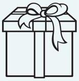 Kasten mit einem Geschenk stock abbildung