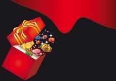Kasten mit Geschenk Lizenzfreies Stockfoto