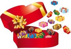 Kasten mit Geschenk Lizenzfreies Stockbild