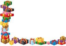 Kasten mit Geschenk Stockfotos