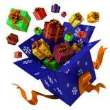 Kasten mit Geschenken Stock Abbildung