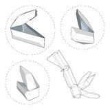 Kasten mit gestempelschnittener Schablone Stockbild