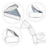 Kasten mit gestempelschnittener Schablone Verpackungskasten für Lebensmittel, Geschenk oder andere Produkte Stockbild