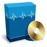 Kasten mit medizinischer Software Lizenzfreie Stockfotografie