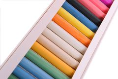 Kasten mit Pastell Lizenzfreies Stockbild