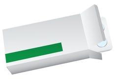 Kasten mit Pillen stock abbildung