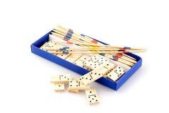 Kasten mit Spielen Stockbilder