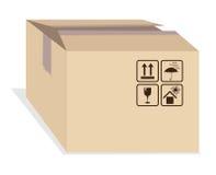 Kasten mit Versandkennzeichen lizenzfreie abbildung